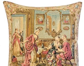 Versailles Decor - French home decor - François Boucher Painting - Gobelin Throw Pillow - Upscale Decor - Belgian Tapestry Pillow Cover