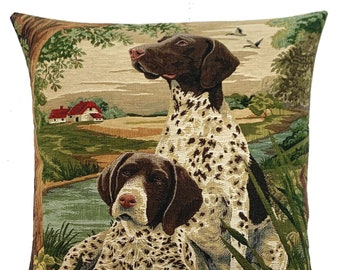 English Pointer Pillow Cover -  Pointer Lover Gift - Country Decor - Dog Lover Gift - Hunting Dog Throw Pillow - Dog Decor Throw Pillow