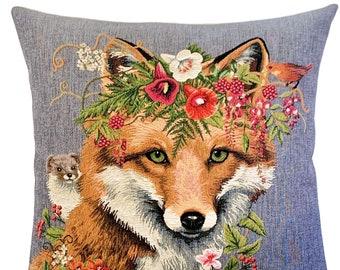 Fox Decor - Fox Pillow Cover - Fox Lover Gift - Fox Cushion Cover - Fox Pillow Case - Forest Decor Accent