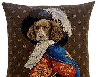 Springer Spaniel Pillow Cover - Springer Spaniel Portrait - d'Artagnan Throw Pillow - Spaniel Gift - Dog Art Pillow Cover - Musketeer Gift