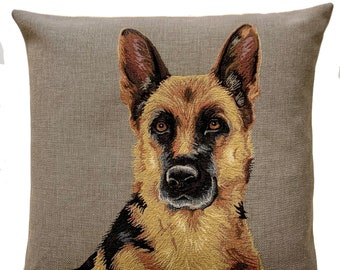 Belgian Malinois Pillow Cover - German Shepherd Cushion Cover - Dog Lover Gift - Dog Decor - Tapestry Throw Pillow