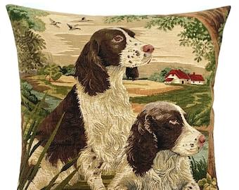 Springer Spaniel Pillow Cover -  Springer Spaniel Lover Gift - Country Decor - Dog Lover Gift - Hunting Dog Throw Pillow