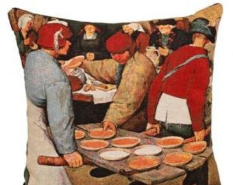 Bruegel Pillow Cover - Bruegel Cushion Cover - Bruegel Museum Gift - Gobelin Pillow Cover - Fine Arts Gift - Famous Painting