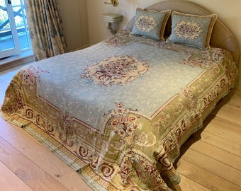 Tapestry Bedspread Regency - Bed Coverlet and Shams - Tapestry Bed Throw - Sofa Throw - Sofa Coverlet - Tapestry Throw Blanket - Queen Size