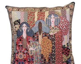 Aladdin Pillow Covers - Vittorio Zechin - Fine Art Decor - Tapestry Throw Pillow - Decorative Pillow Cover - 1001 Nights