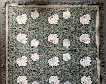 Pimpernel Throw Blanket - William Morris tapestry Throw - 56x56 Belgian Tapestry Throw - William Morris Design Throw Blanket
