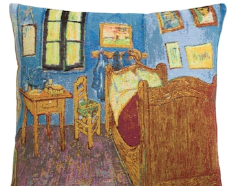 Va Gogh Bedroom Pillow Cover - Van Gogh Cushion Cover - Van Gogh Museum Gift - Gobelin Pillow Cover - Fine Arts Gift - Famous Painting