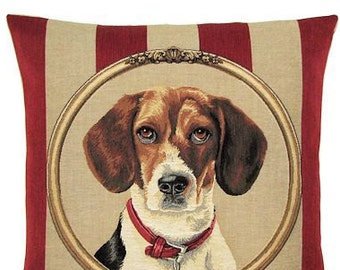 Tapestry Pillow Cover - Beagle Pillow Cover - Beagle Gift - Beagle Portrait - 18x18 pillow cover - PC-5300