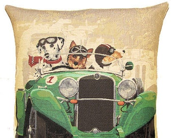 Dalmatian Yorkshire Terrier Jack Russell Pilow Cover - Dog Lover Gift - Dog Belgian Tapestry Cushion - Throw Pillow Cover - PC-5155