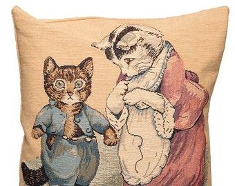 Peter Rabbit Pillow Cover - Peter Rabbit Gift - The Tale of Peter Rabbit - Beatrix Potter Gift - Tom Kitten pillow