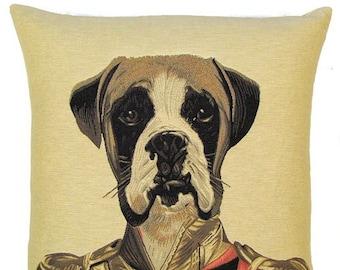 Boxer Dog Pillow Boxer Dog Gift Belgian Tapestry Boxer Cushion Cover Boxer Throw Pillow 18x18 - PC-G44