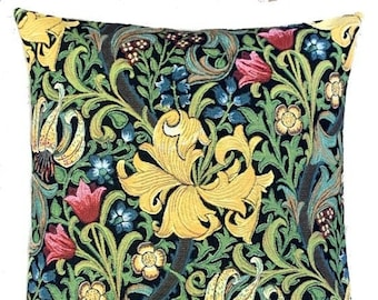 William Morris Golden Lily Pillow Cover  - William Morris Gift - English Decor - Morris artwork - William Morris Tapestry Pillow Case