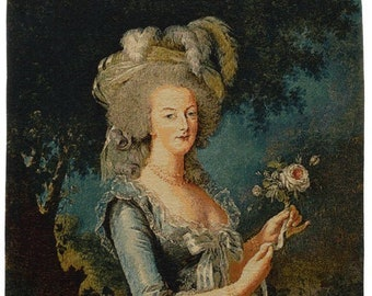Marie Antoinette Tapestry Wall Hanging - Portrait Wall Decor - Madame Lebrun Art - Museum Gift - Fine Arts Lover Gift