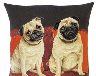 Dog Pillow Couch - Pug Pillow Cover - Pug Decor - Funny Pugs Throw Pillow - Pug Cushion Cover - Tapestry Pillow Cover - Pug Gift