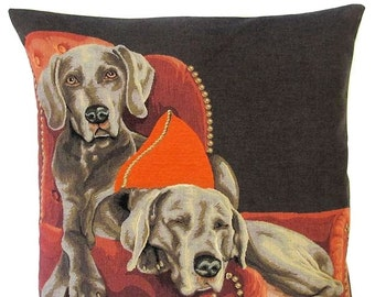Weimaraners Pillow Cover - Weimaraner 18x18 Tapestry Pillow Cover - Weimaraner Lover Gift - PC-5338