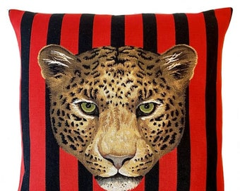 Jaguar Pillow Cover - Jaguar Cushion Cover - Wildlife Decor - Jaguar Gift - Jaguar Decor - Tapestry Throw Pillow - 18x18 pillow