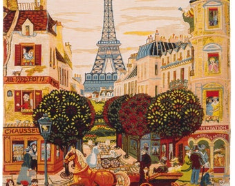 Paris Tapestry Wall Hanging - Paris Scenery Wall Decor - Eiffeltower Wall Art - French Decor - Paris Lover Gift - Belgian Tapestry