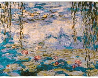 Monet Tapestry Wall Hanging - Fine Arts Wall Decor - Water Lilies Wall Tapestry Hanging - Nympheas Wallhanging - Floral Tapestry