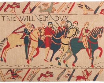 Bayeux Tapestry Wall Hanging - Medieval Wall Tapestry - Medieval Decor - Bayeux Chevalier Tapestry - Bayeux fragment