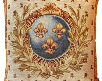 Empire Decor - Fleur de Lis Pillow Cover - Fleur de Lys Decor - Bee Pillow Cover - French Empire Cushion Cover - Napoleon Gift
