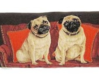 tapestry draught excluder - tapestry windstopper - dogbreeds pillow cover - pugs beagles weimaraners - BOL5335