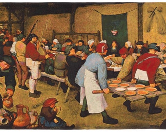 Wall Hanging Tapestry - Wall Tapestry Decor Tapestry Wall Hanging  Peasant Wedding by Pieter Bruegel the Elder - Tapestry Decor - WT-1851