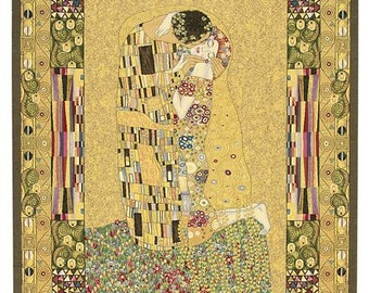 Klimt Tapestry Wall Hanging - Klimt The Kiss Wall Tapestry - Gustav Klimt Wall Tapestry Hanging - Klimt Gift