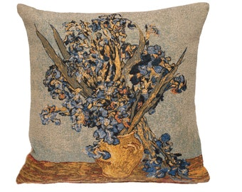 Irises Pillow Cover - Van Gogh Pillow Cover - Van Gogh Museum Gift - Flower Decor Gift - Fine Arts Decorative Pllow - Tapestry Throw Pillow