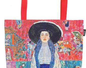 Klimt Tote Bag - Gustav Klimt Shoulder Bag - Fine Arts Handbag - Adele Bloch Bauer Hobo Bag - Woven Handbag - Art Gift