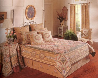 tapestry bedspread chambord - tapestry coverlet - king or queen size bedspread - french decor bedspread