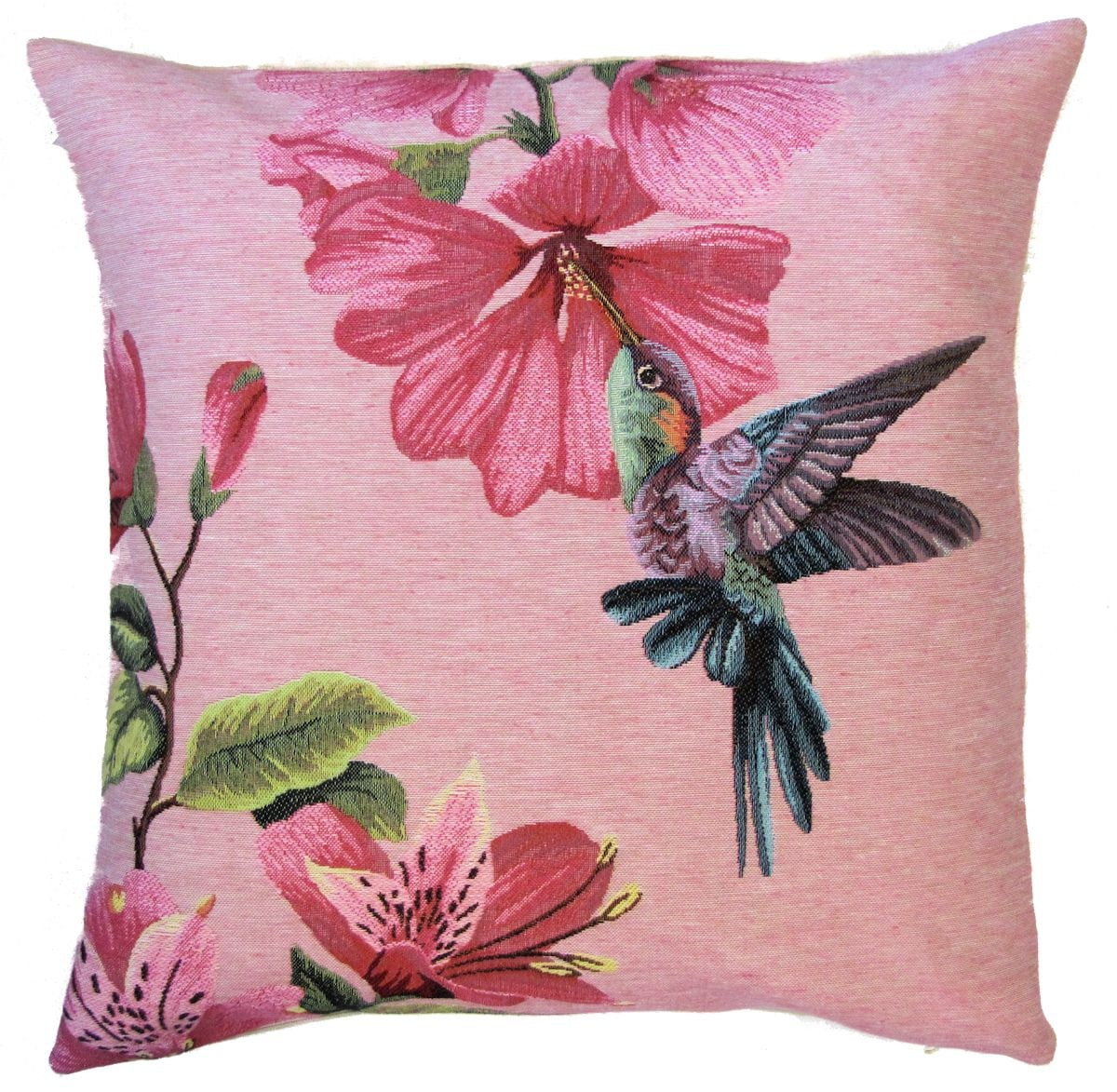 Hummingbird Pillow Cover Hummingbird And Flower Cushion Cover