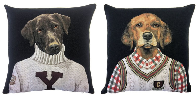 Yale Gift College Decor Black Throw Pillow Dog Pillow Cover Black Labrador Gift College Gift Yale Decor Yale Sweatshirt