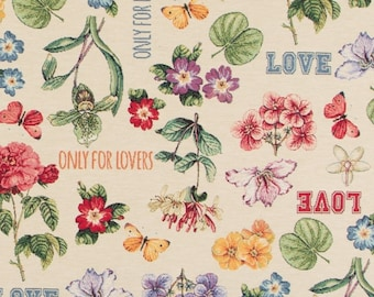 floral fabric - Love fabric - butterfly fabric - jacquard woven fabric - quilting fabric - upholstery fabric - floral fabric - TF-9007
