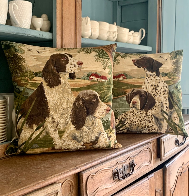 Hunting Dog Throw Pillow English Pointer Pillow Cover Dog Decor Throw Pillow Country Decor Dog Lover Gift Pointer Lover Gift