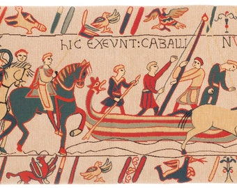 Bayeux Tapestry Wall Hanging - Medival Wall Tapestry - Medieval Decor -