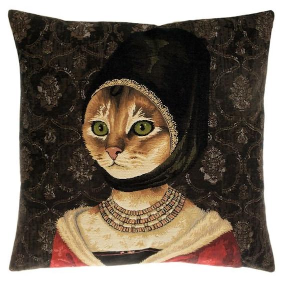 Cat lover pillow | Etsy