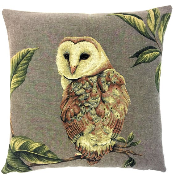 Barn Owl Pillow Cover Owl Lover Gift Owl Decor Barn Owl Etsy