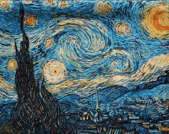Starry Night Wall Tapestry - Van Gogh Tapestry Wall Hanging - Van Gogh Wall Tapestry Hanging - Belgian Tapestry Wall Decor