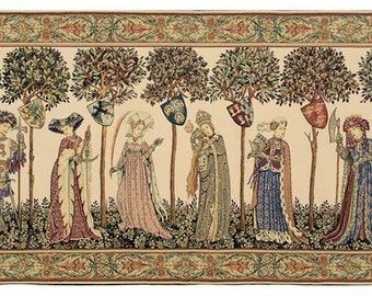 The Manta tapestry wall hanging - Medieval Wall Tapestry Hanging - The Nine Worthies - Exceptional Wall Decor - Godfrey of Bouillon
