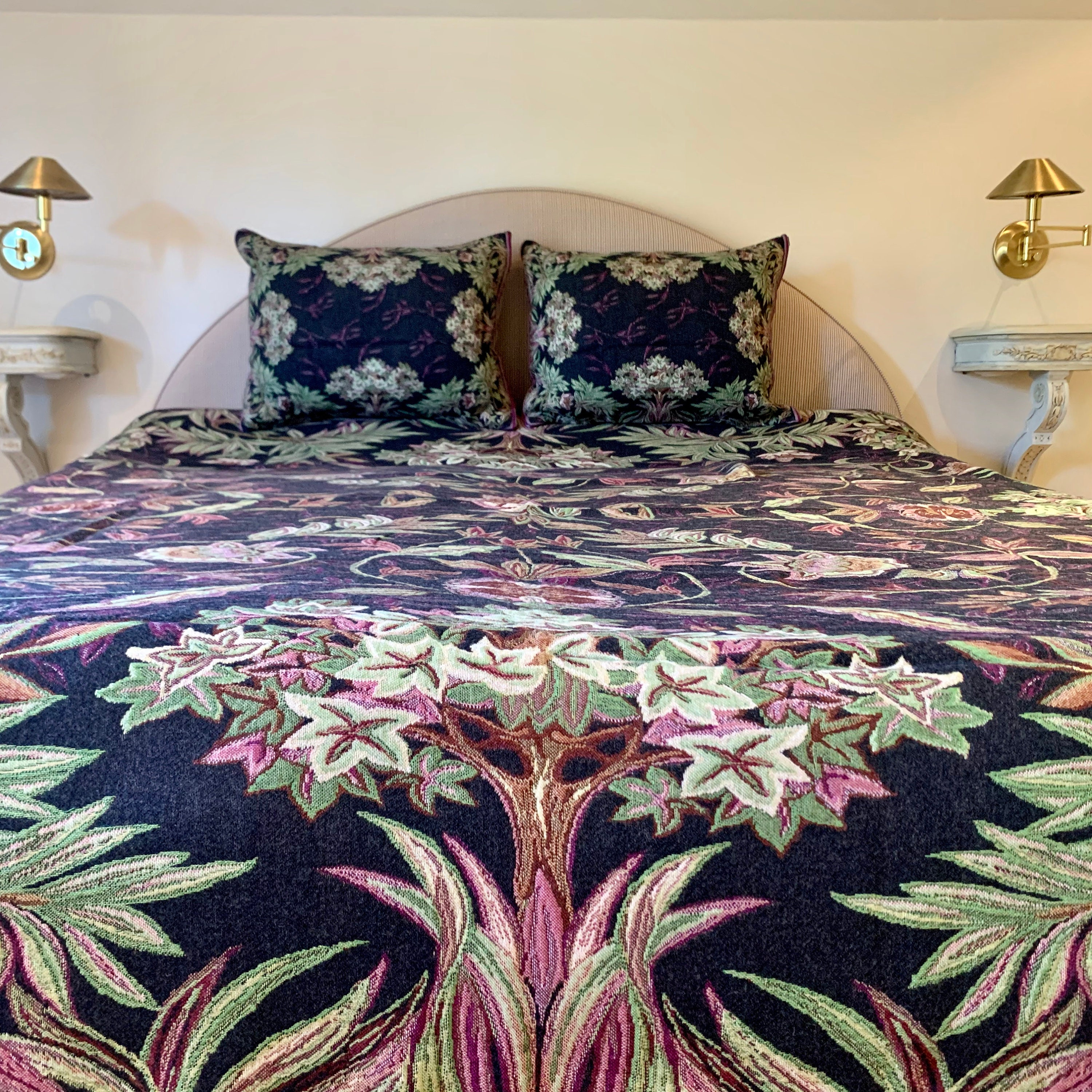 Tapestry Bedspread Arboreto Bed Coverlet And Shams Tapestry Bed Throw Sofa Throw Sofa Coverlet Tapestry Throw Blanket King Size