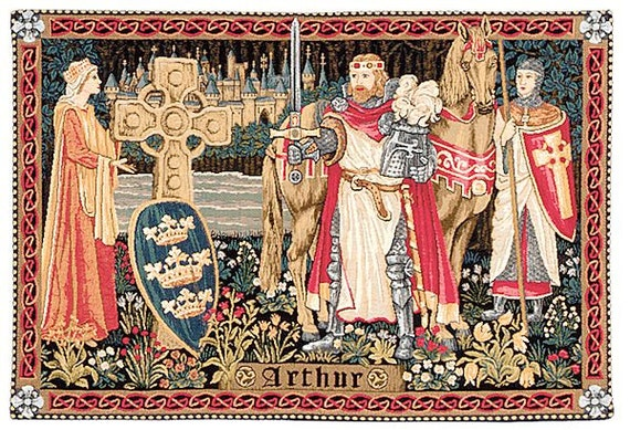 Medieval King Arthur from 16th Century Tapestry Counted Cross Stitch Pattern
