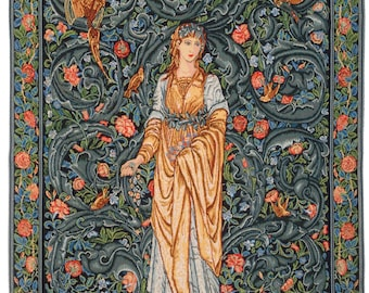 William Morris Tapestry Wall Hanging - Flora Wall Hanging Tapestry - William Morris Gift - English Wall Decor - Gobelin Wall Tapestry