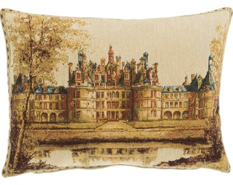 Chambord Castle Pillow Cover - French Castle Decor - French Decor Gift - Chateau de Chambord Cushion Cover - 14x18 Tapestry Cushion Cover