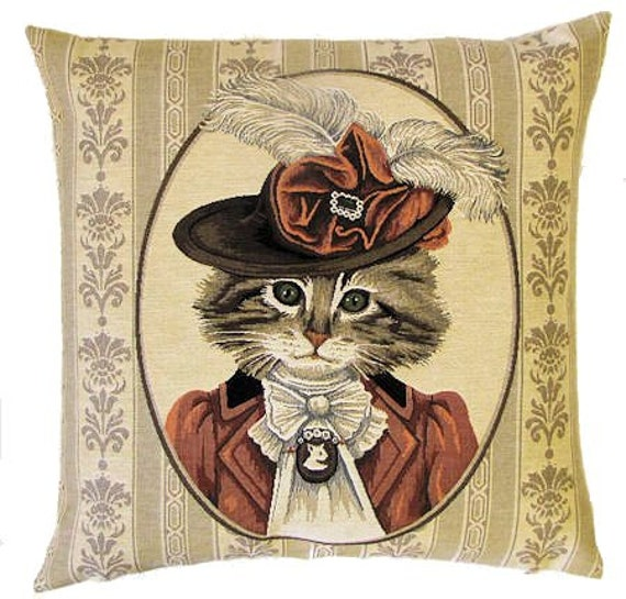 Cat Pillow Cat Pillow Cover Cat Lover Gift Dressed Etsy