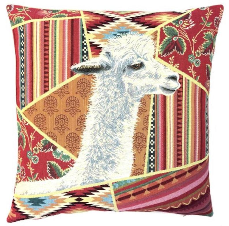 Alpaca Gift  Alpaca Print  Alpaca Pillow Cover  Boho Decor image 0