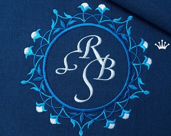 Machine Embroidery Design Marocco Blank Monogram