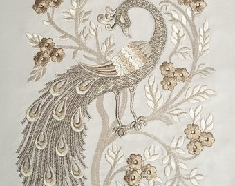 Machine Embroidery Design Peacock - 3 sizes
