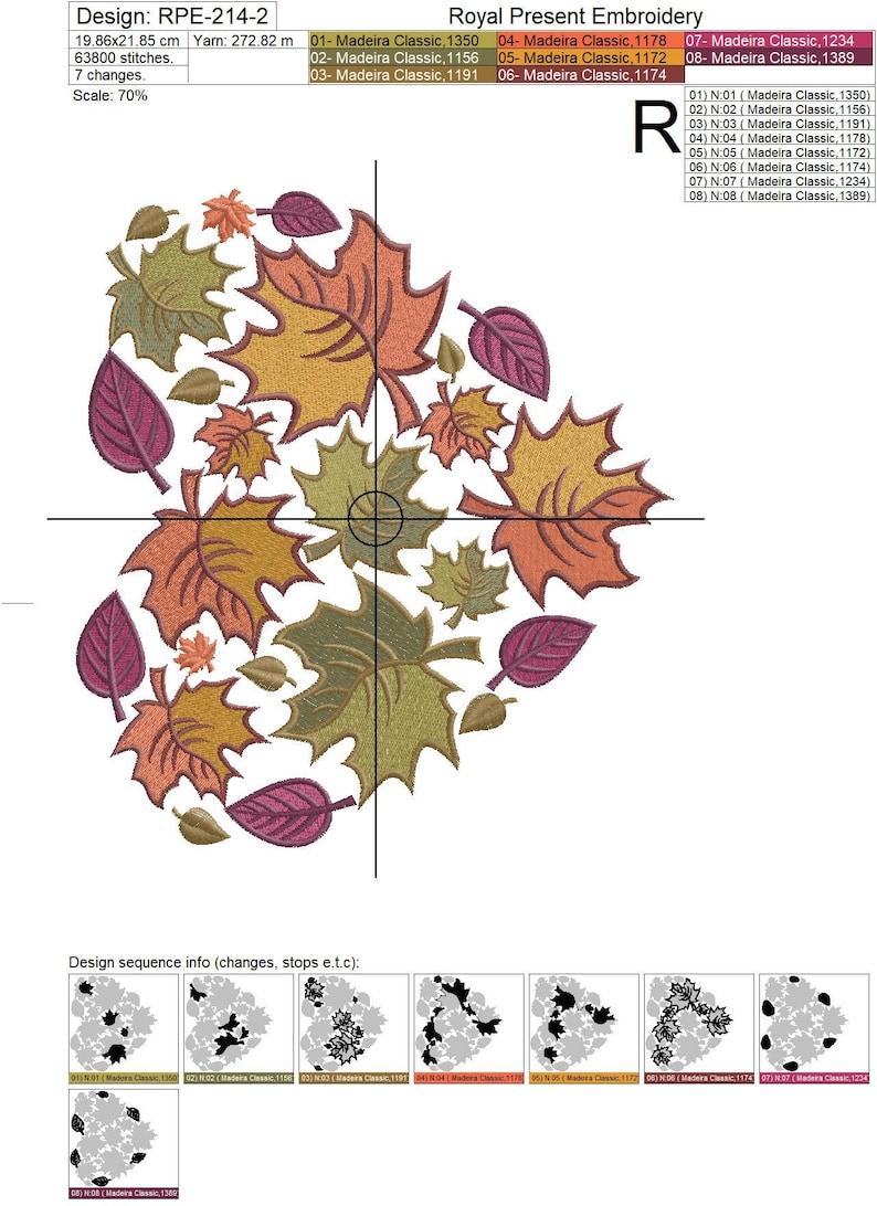 Machine Embroidery Design Autumn heart 4 sizes