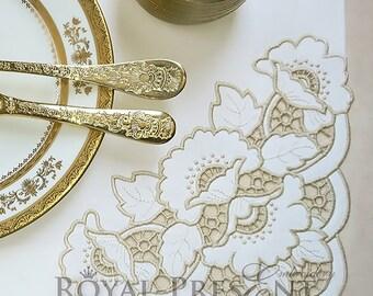 Richelieu Corner Machine Embroidery Design