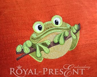 Machine Embroidery Design Frog - 3 sizes